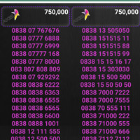 Nomor cantik kartu perdana axis by XL AXIATA harga 750rb
