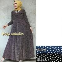 Jual Baju Maxi Polka Baju Muslim Gamis Muslim Pakaian Maxi Muslimah Abaya Murah