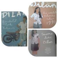 Novel Remaja Paket 3 Novel Pidi Baiq. Dilan 1, Dilan 2, Milea. Harga