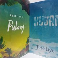 Buku novel Pulang & Hujan Tere liye/1 set 2 buku/580hal.