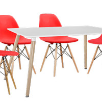 Sheryl Dining Set With Ragna red