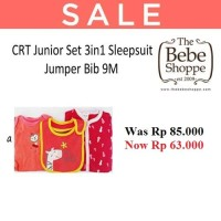 CRT Junior Set 3in1 Sleepsuit Jumper Bib 9M