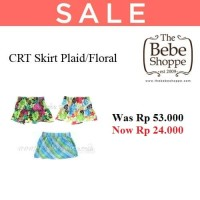 CRT Skirt Plaid/Floral