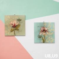 Hiasan pajangan dinding rumah Vintage bunga bunga - U8 a107ca6762