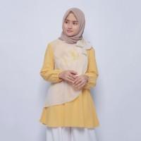 Eclemix Inara Tunic Yellow Atasan Kuning Muslimah