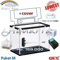 Paket Aquarium GEX M + Original Cover