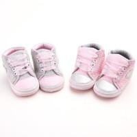 Sepatu Bayi Import Prewalker Shoes Anak Perempuan Polkadot Pink Abu
