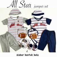 Baju fashion jumper set celana sepatu topi slaber anak bayi laki laki