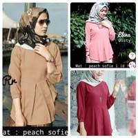 Harga baju wanita blouse elena tunik busana muslim blus kerja   Hargalu.com