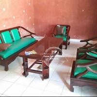 Meja Kursi Ruang Tamu, Kursi Sofa Modern Kayu Jati Jepara Free Ongkir