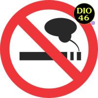 STIKER PETUNJUK TANDA NO SMOKING WALL STICKER DINDING DILARANG MEROKOK