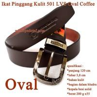 Ikat pinggang Pria Kulit 501 LVS oval coffee