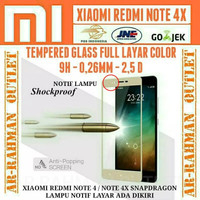 Xiaomi Redmi Note 4X Tempered Glass Color Warna Full Layar Hp Note4x