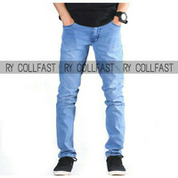 Celana panjang pria skinny soft jeans streetch