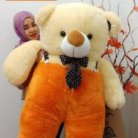 Boneka Beruang Teddy Bear Jojon Giant Jumbo Cream Orang Pink Fanta