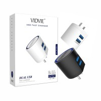 Vidvie 2 USB Port Micro Charger PLM301 (USB Cable Included-Micro)