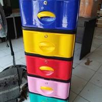Jual lemari plastik laciplastik serbaguna susun 5 stockcase napolly + kunci Murah