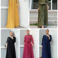 bonia dress/maxi panjang muslim/hijabers remaja/busana muslim murah