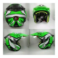 Helm Supermoto Jpx Doof Green Tipe nmax Berkualitas