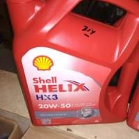 Oli Shell Helix HX 3 SAE 20W 50 Galon 4 Liter Original Diskon