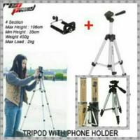 Tripod Profesional WT-3110A 1m + Holder U