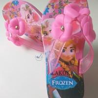 Sandal Jepit Anak Perempuan Cewek Sendal Karet Wanita Frozen Bunga