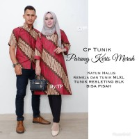 Baju Couple Tunik Parang Keris/Baju couple/Sarimbit Batik/Batik Solo