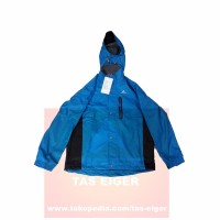 Jaket Gunung EIGER J341 Clement Blue -Softshell Jacket-Water Repellent