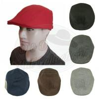 Topi pet dewasa fleece katun / newsboy cap