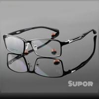 Kacamata FF42 Full frame Hitam PALING LEBAR kaca mata Pria Minus besar