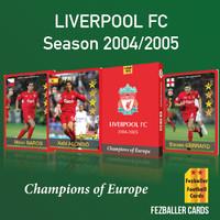 kartu bola Fezballer Card Liverpool season 2004/2005 (Champions)