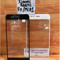 Tempered Glass Warna Full Layar Xiaomi Redmi 5X/Mi A1
