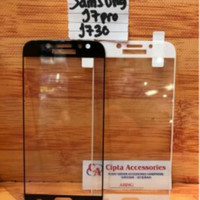 Tempered Glass Warna Full Layar Samsung J7 Pro/J730