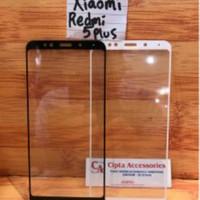 Tempered Glass Warna Full Layar Xiaomi Redmi 5 Plus