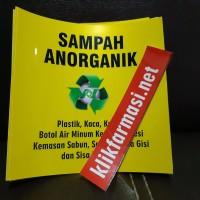 Stiker Sampah Organik / Anorganik