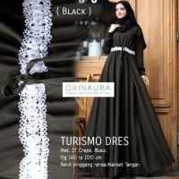 Jual baju muslim gamis dress abaya crepe polos renda turismo ori Murah