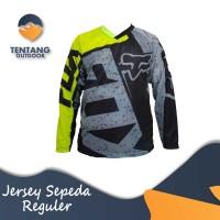 Baju Kaos Jersey Sepeda Gowes Lengan Panjang C071 FOX Downhill MTB DH