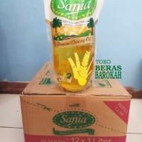 Minyak Goreng Sania 1 Karton Berisi 12 Pouch Refill 1 Liter