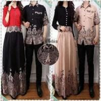 Al Cp Viona Baju Pasangan Keluarga Couple Batik Modern Kemeja Koko