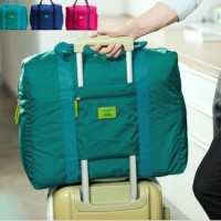 FOLDING TRAVEL CARRY BAG ( Tas Tenteng ANTI AIR Bisa Selip Tiang Koper