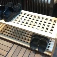 Rak Sepatu Kayu 2 Susun Minimalis