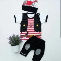 branded Baju Bayi Laki Laki Setelan Lucu Topi - Cute Pirates Baby