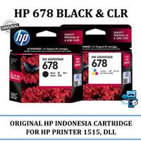 Tinta Original HP INK 678 Black Hitam & Colour Warna Cartridge