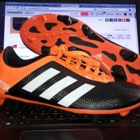 Sepatu Bola Adidas Predator Hitam Orange KW