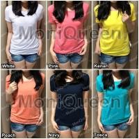 KERAH BULAT Kaos Polos Basic / Atasan / Pakaian Tshirt Oblong Wanita