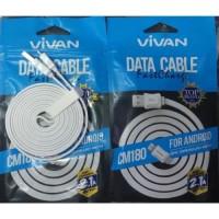cable pro vivan 1.8m CM180 Micro USB / kabel BB , samsung