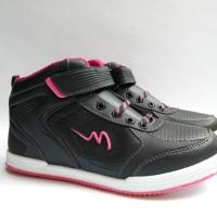 Sepatu Sekolah Anak Hitam Pink Original Mickelson GRANDBLUE SD 31-38