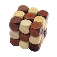 Puzzle Misteri 3D Build Wood into Magic Cube