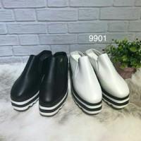 Jual 9901 sepatu kets import hk korea wedges hak tinggi slip on Murah