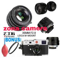7Artisans 35mm F2.0 Prime Fixed For Leica M Mount 7artisan Lensa Wide